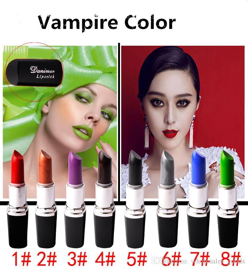 Vampiro cor batom suporte de batom à prova d 'água de alta qualidade batom matte batom maquiagem gloss batom frost batom matte batom