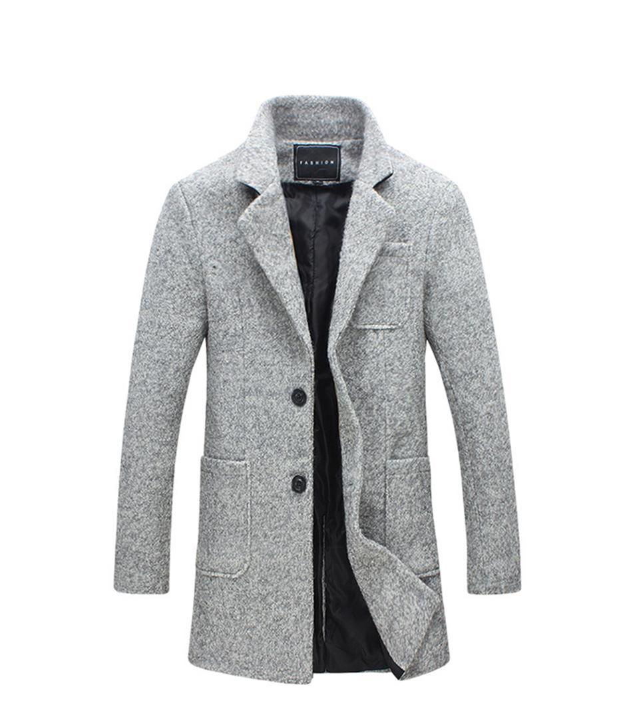 도매 -2011 새로운 긴 트렌치 코트 남자 방풍 겨울 패션 망은 40 % 양모 품질 두꺼운 따뜻한 트렌치 코트 남성 자켓 5XL을 overcoat