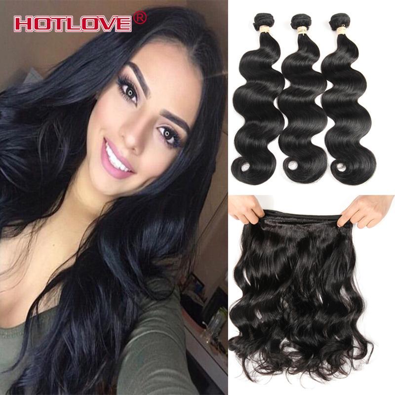 HOTLOVE Peruvian Virgin Hair Body Wave 8A Peruvian Body Wave Unprocessed Virgin Human Peruvian Remy Hair Weave Extension 3pcs,4pcs lot