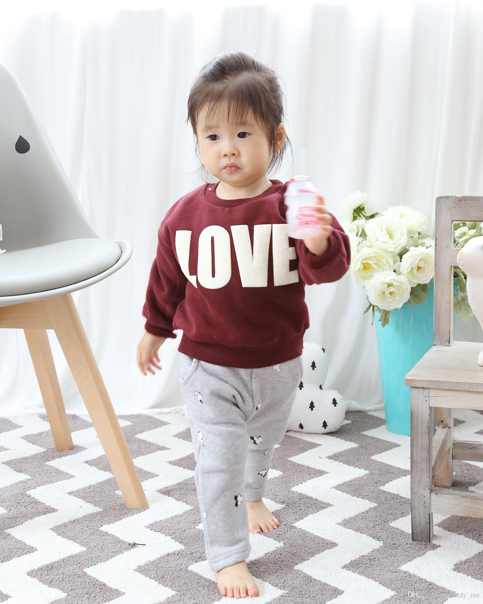 Fashion Casual Mom And Child Hoo s Clothings Autumn Winter Letters