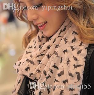 Wholesale-Free shipping!2015 new Korean winter long silk chiffon scarf shawl wholesale and female cat!#M220