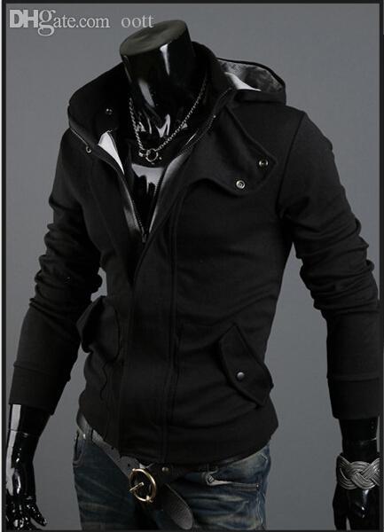 Queda-2015 Venda Quente de Inverno Outono Marca de Moda Masculina Hoodies Moletons, Casual Esportes Masculinos Com Capuz Casacos Frete grátis