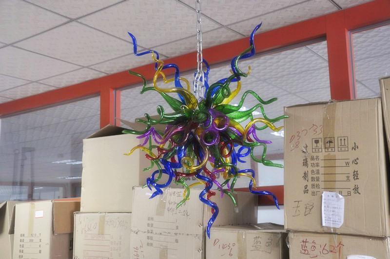 CE UL 붕규산 무라노 유리 데일 치 훌리 (Dale Chihuly) 예술 손재주 디자인 램프 크리스탈 샹들리에 풍선 100 % 입