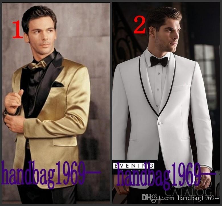 高品質の新しい到着16モデルオプションの新郎タキシード新婦メンズ結婚式の服プロムスーツ(ジャケット+パンツ+ガードル+ネクタイ)AA1250