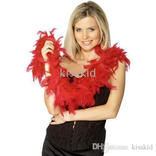 5 pezzi Fancy Dress Accessory Red Boa Boa Party Costume 2M Natale festa di nozze per feste