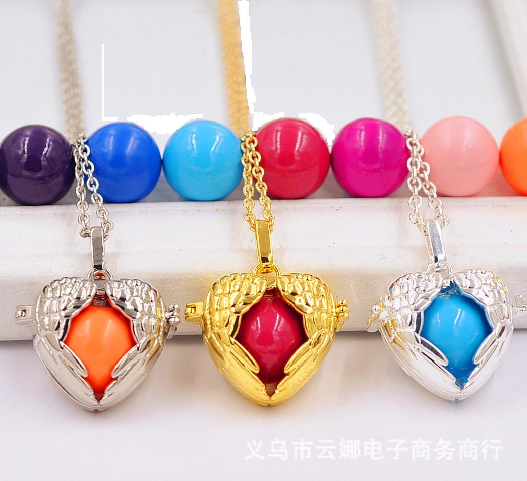 2015 Harmony Bola ball sterling Silver Gold Plating Angel Ball Pendants Necklaces Jewelry New Style Including Ball