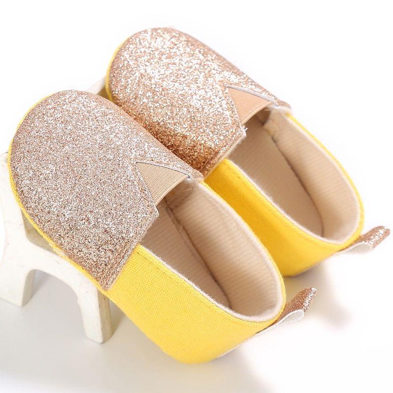 Wholesale- Spring Summer Infants Baby Soft Sole Cotton Shoes Newborn Girl Toddler Crib Bling Moccasin Prewalker 0-18M oyfy