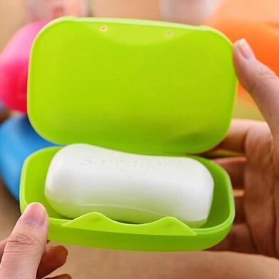 الشحن مجانا البلاستيك السفر الصابون مربع للماء مانعة للتسرب غطاء قفل الصابون مربع 5 لون 12x7.5x4.4 سنتيمتر (كبير) MD11