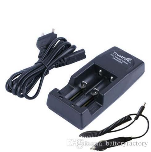 Grátis DHL, preto Trustfire TR-001 duplo carregador de bateria + carregador de carro 18650, 18500, 18350, 17670, 16340