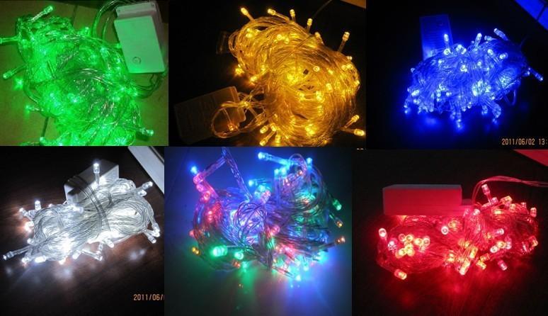 Led dize işık 10 M 100led AC110V veya AC220V renkli tatil led aydınlatma su geçirmez dış dekorasyon ışık christm lightas