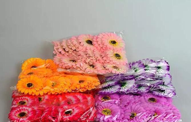 """180 sztuk 3 """"Mieszane Kolory Sztuczne Afryka Chryzantema Jedwab Kwiat Głowy Wedding Bukiet Bukiet Bukiet Ozdoba"""