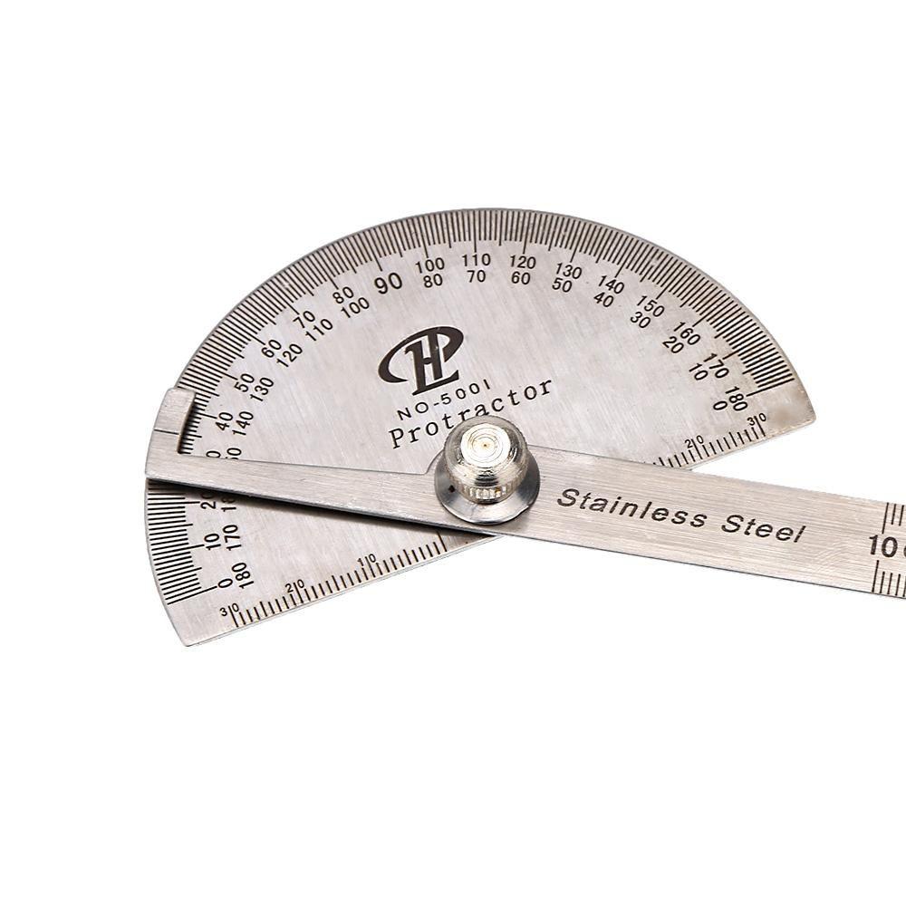 Herramienta de medición profesional de acero inoxidable Digital Prolongador de cabeza redonda Rotary Goniometer ángulo gobernante ferramentas manuais