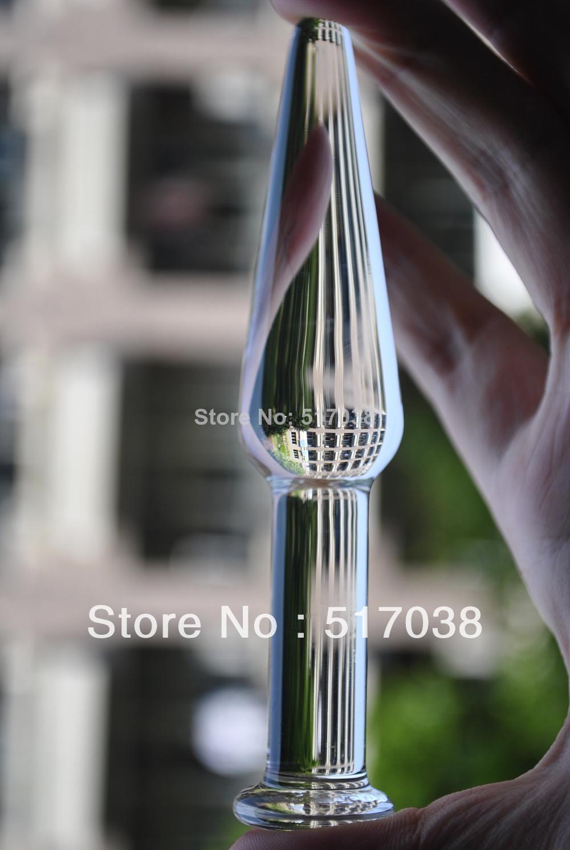 Schlanke dünne spielzeug dildos pyrex glas kristall erwachsene butt stecker sex sheer masturbation frauen männer anal produkte weiblich für verbesserung sqvnp