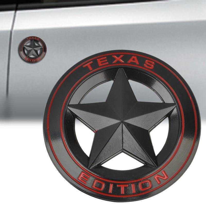 Mayitr Metal TEXAS EDITION Shield Star Emblem Badge Car Fender Side Tail Body Sticker For JEEP Wrangler Liberty Grand Cherokee