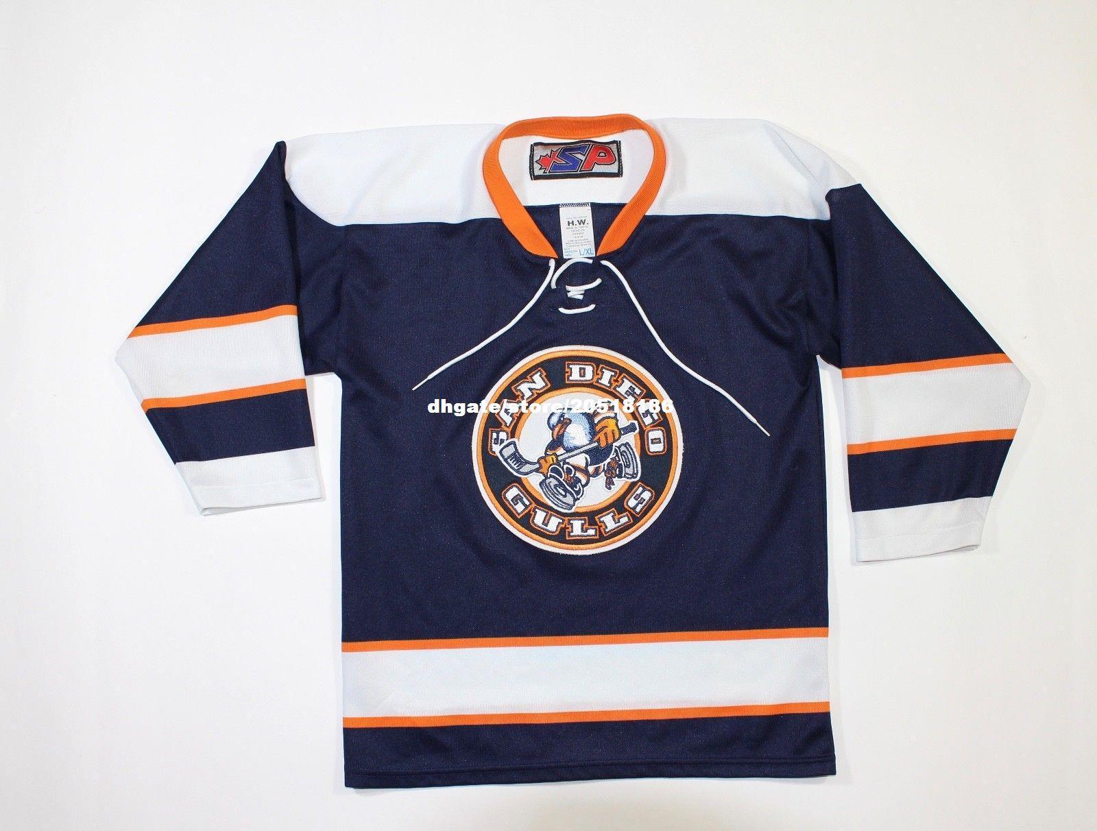 2021 Cheap Custom Rare San Diego Gulls Jerseys Stitched Mens ...