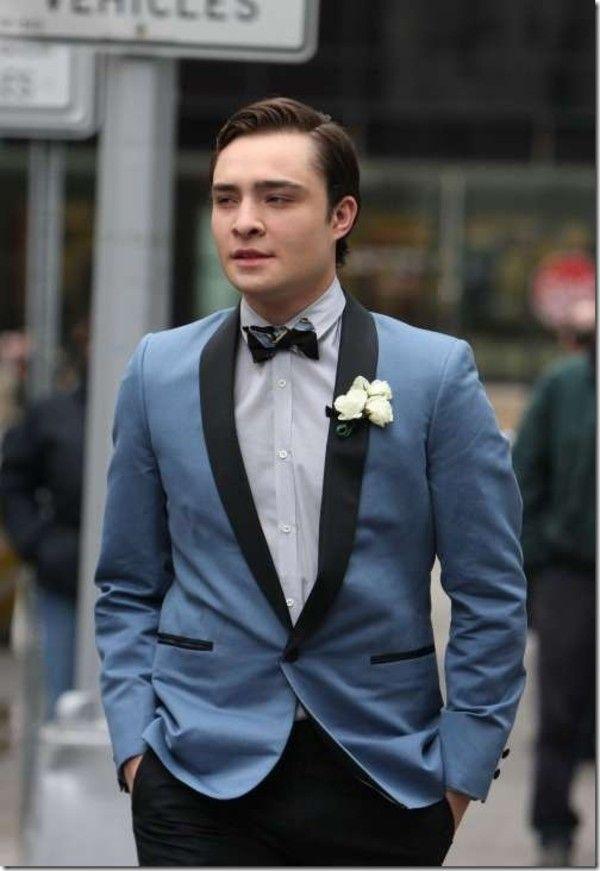 Cheap Slim Fit Light Blue Wedding Suits For Men Shawl Lapel Mens ...