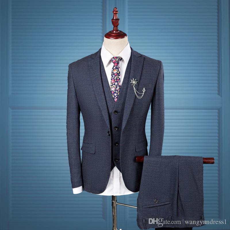 Новое прибытие на заказ свадебные костюмы Harringbone жених смокинги костюм официальные костюмы Шафер жених костюмы (куртка + брюки + жилеты)