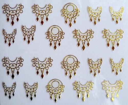 Min. Order 5 $ olduğunu 3D Nail Art Etiketler Çıkartması Altın Gotik Takı Metalik Tasarım Dekorasyon Fransız Manikür Damgalama Folyo Araçları