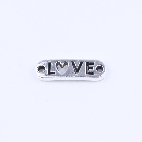 Antique silver/bronze LOVE word brand Pendant DIY jewelry fit Necklace or Bracelets charm 200pcs/lot 5274