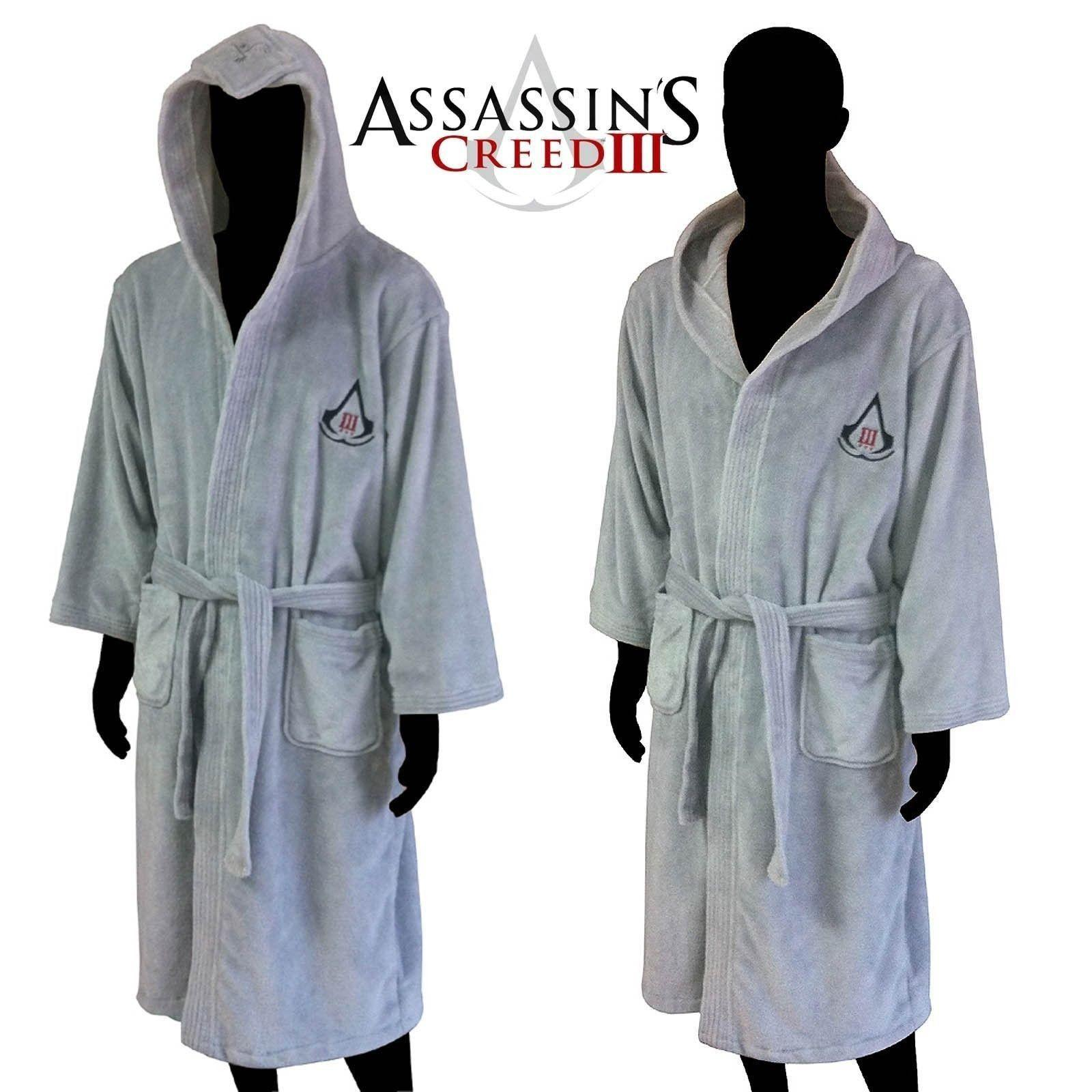 Assassins Creed Bath Robe Bathrobe Cosplay Costume Flannel Light