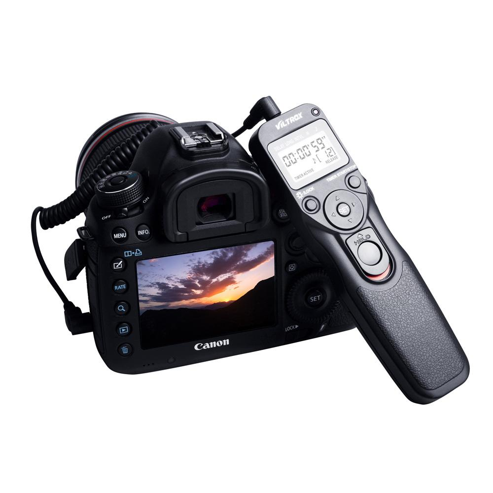 VILTROX Time Lapse Intervalometer Timer Remote Control Shutter with C1 Cable for Camera Canon 300D 400D 500D Pentax K100D K110D