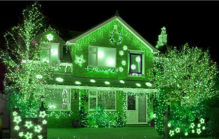 Green Christmas Lights.20m 30m 50m 100m 600 Led String Fairy Lights Xmas Decor Lights Red Blue Green Colorfull Christmas Lights Party Wedding Lights Twinkle Light Light Bulb