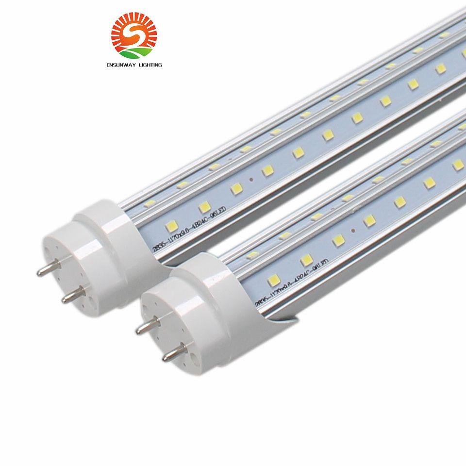 V Şekilli LED Tüpler Işıkları 4ft 5ft 6ft 8ft T8 G13 Çift Hatlar Soğutucu Aydınlatma AC için LED Işık Tüpleri AC 85-265V UL DLC