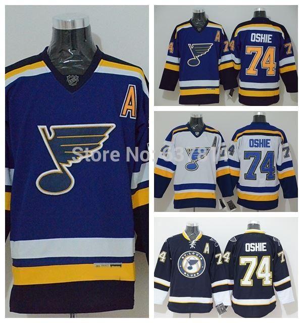 2015 St. Louis Blues Hockey Jerseys #74 T. J. Oshie Jersey New Blue Alternate Cheap TJ Oshie Stitched Jerseys M-XXXL A Patch