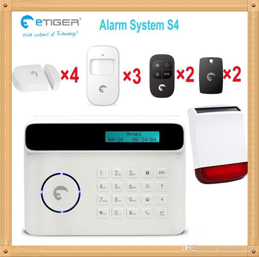 Free shipping DHL, Wireless home security alarm system kits with low-battery alarm function 850/900/1800/1900MHz