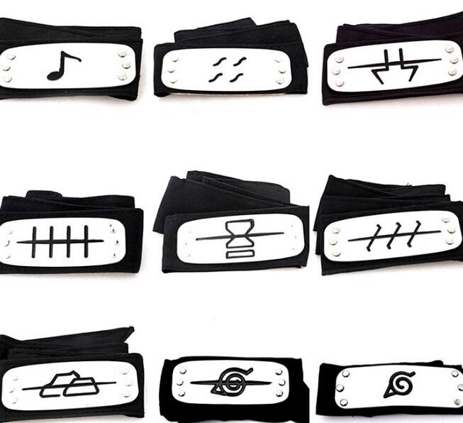 PrettyBaby ANIME Naruto Headband 95cm Leaf Village Logo Konoha Kakashi Akatsuki Members Cosplay Costume Accessories blue red black in stock
