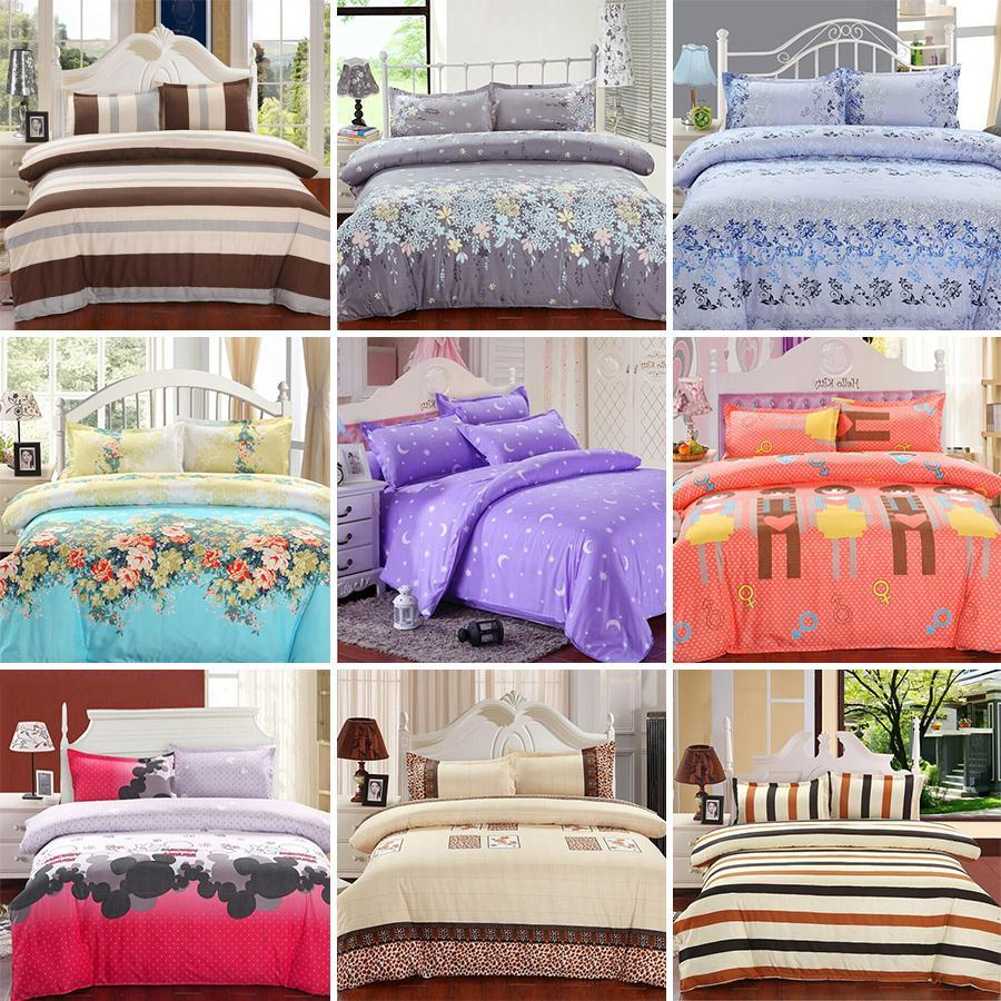Beau New Printing Bedding Set Fashion Bed Sheet Duvet Cover Pillowcase Winter  Cotton Pcs Bed Set Comforter Bedding Sets From With Satin Sheets Canada