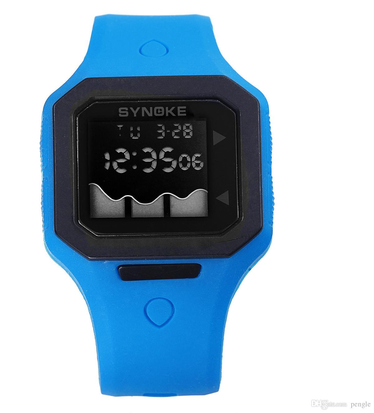 Fashion Style LED Digital Sports Watch Jelly Silicon Watch Swim Waterproof Wrist Watch 3 Color Free Shipping