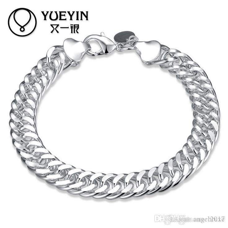 Another silver fine silver jewelry in Europe and America exports boutique 10MM whole side bracelet creative gift