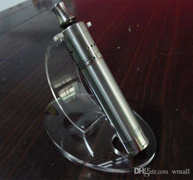 Acrílico e cig vitrina estante vitrina claro soporte de rack para la batería del ego cigarrillo electrónico vaporizador pluma ecigs mech mods 20 unids / lote