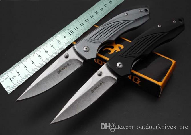 Browning - Aluminiumhandgriffqualitätsfaltenmesser 440C Stahl 58HRC faltendes Messergeschenkmesser Weihnachtsgeschenk 1pcs freeshipping