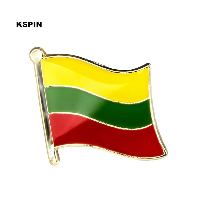 Spedizione gratuita il Lituania Bandiera Metallo Badge Pin Pin KS-0103