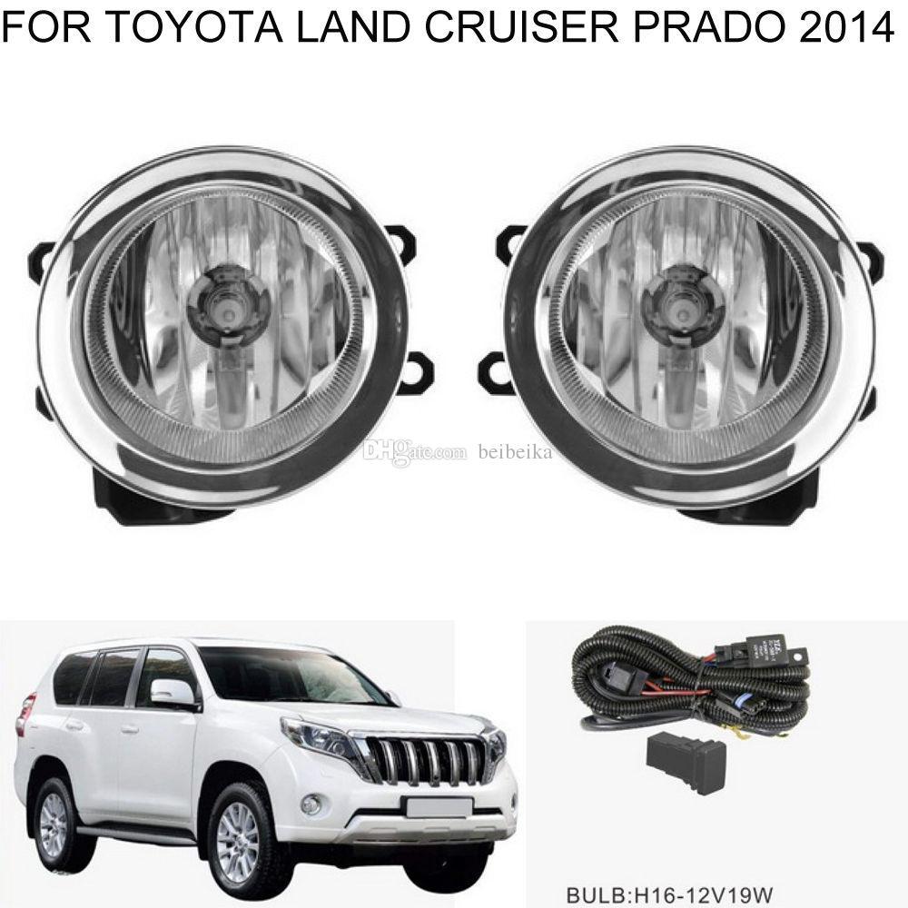 Toyota Land Cruiser Prado 2014 ~ 2016 조립 키트 (한 쌍) 용 자동차 안개 조명 할로겐 벌브 전면 안개등