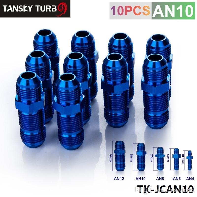 AN-10 45 Degree Bulkhead Fitting Adapter Blue AN10 AN-10 10AN