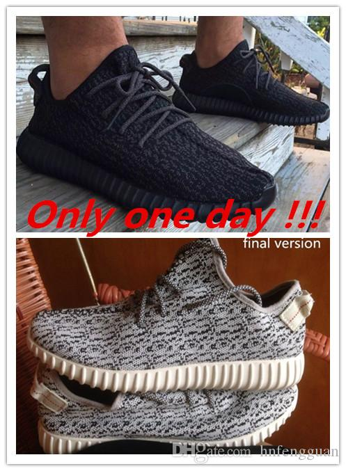 2015 Mens And Womens Yeezy Boost 350 Boostted Pirate Black Low Cut Running Shoes Rings AQ2695 With Original Box 36 46 Navy Shoes Blue Shoes From