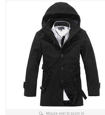 Nouvelle arrivée! Veste d'hiver pour hommes, manteaux pour hommes à la mode, manteau taille plus, manteau d'hiver causal chaud pour hommes, commerce de gros