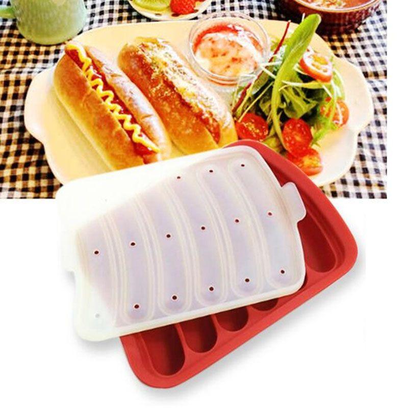 Creative baking utensils Silicone baking hot dog mold DIY homemade hand-made sausage box Egg rice cake Cake mold