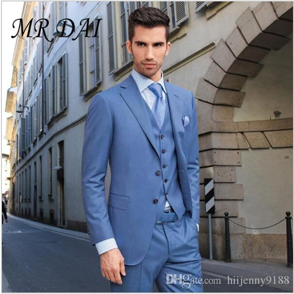 Md 029blue Excellence Style Mens Dinner Party Prom Suits Groom ...