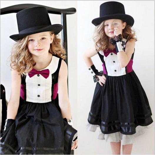 2015 Dama Estilo Niñas Elegante Vestido Sin Mangas De La Venta Caliente De  Verano Para Niños