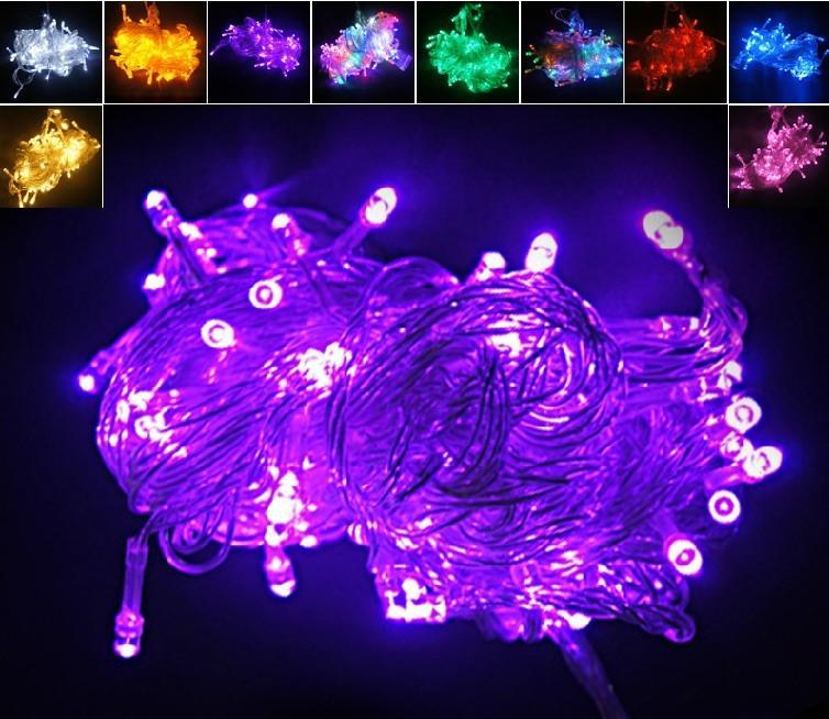 Natal Xmas 10 metros 100LED 100 LED Luzes Cordas janela do flash cortina de luz