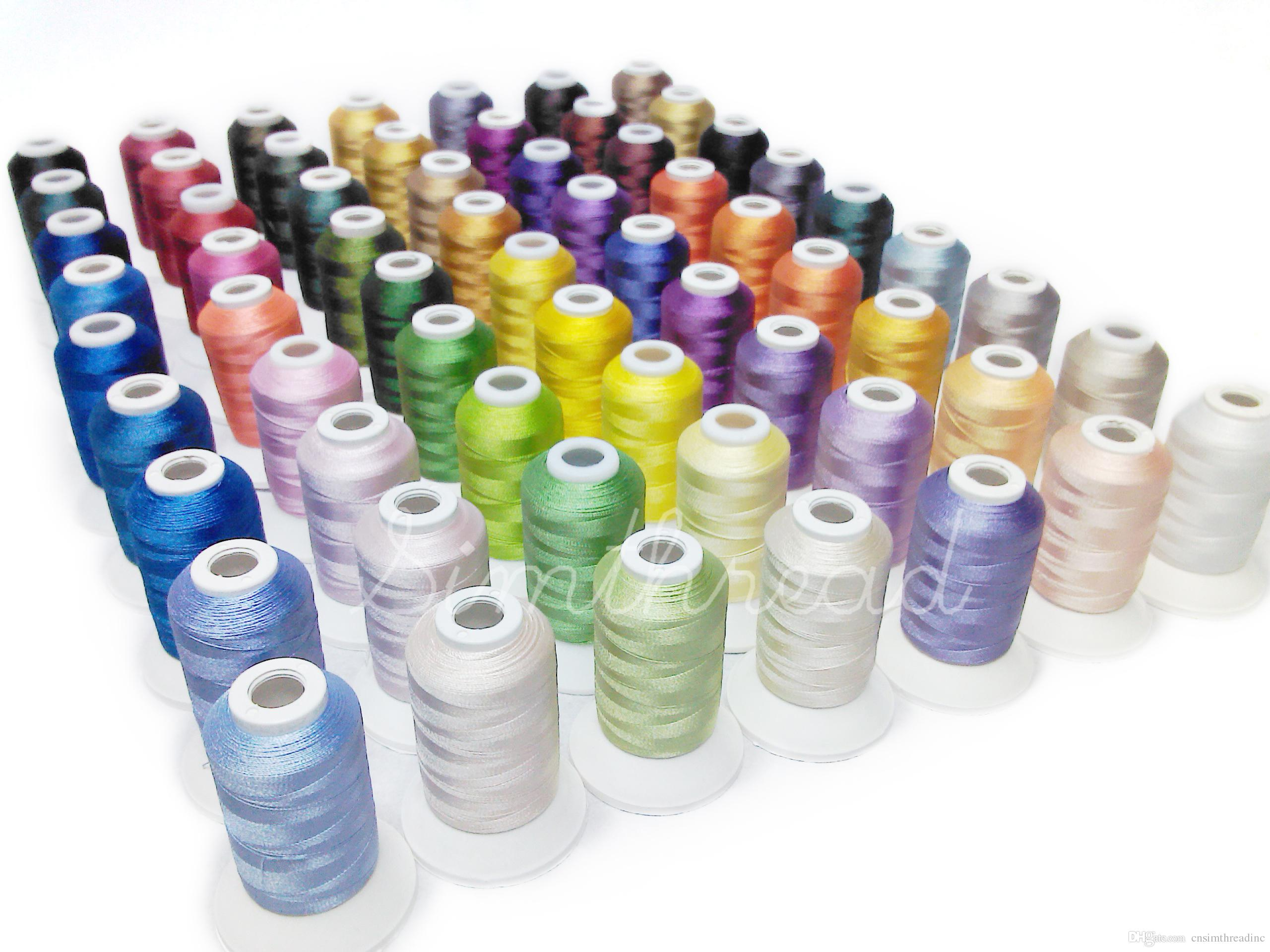 2018 Brand Simthread 500m Polyester Embroidery Thread Brothers Color