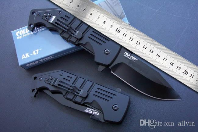 Best quality New Cold Steel AK-47 Survival Tactical folding knife Ourdoor rescue survival knife AK47 knives with original paper box packing