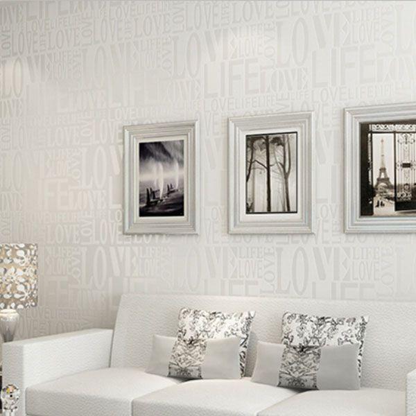 Großhandel Moderne Tapeten 3D Mode Liebes Muster Englische Buchstaben  Tapete Schlafzimmer Wohnzimmer Heimtextilien Von Sevenking, $26.13 Auf ...