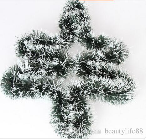 2M عيد الميلاد الروطان قلادة الأخضر العشب الأبيض شجرة عيد الميلاد الديكور 10PCS