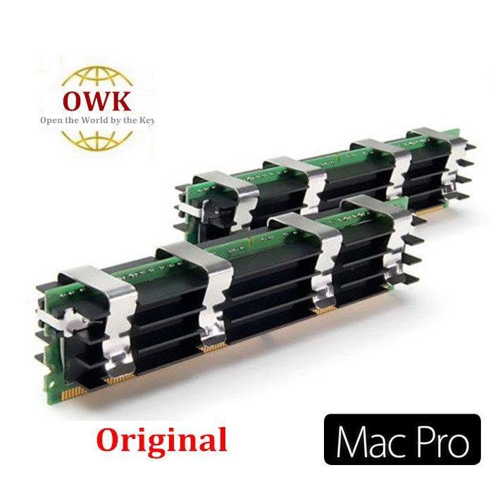 Memoria MacPro original 4GB (2GBx2) DDR2 PC2-5300 FB-Dimm ECC DDR2-667 con A-pple Mac Pro 1.1, 2.1,3.1 envío gratis 2pcs / pair