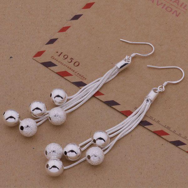 Coole Entwurfsverschiedene Perlen multi Kette Heiße neue Art und Weise (Schmucksache-Hersteller) Ohrringe 925 Sterlingsilberschmucksachen Fabrikpreis Art und Weise E324
